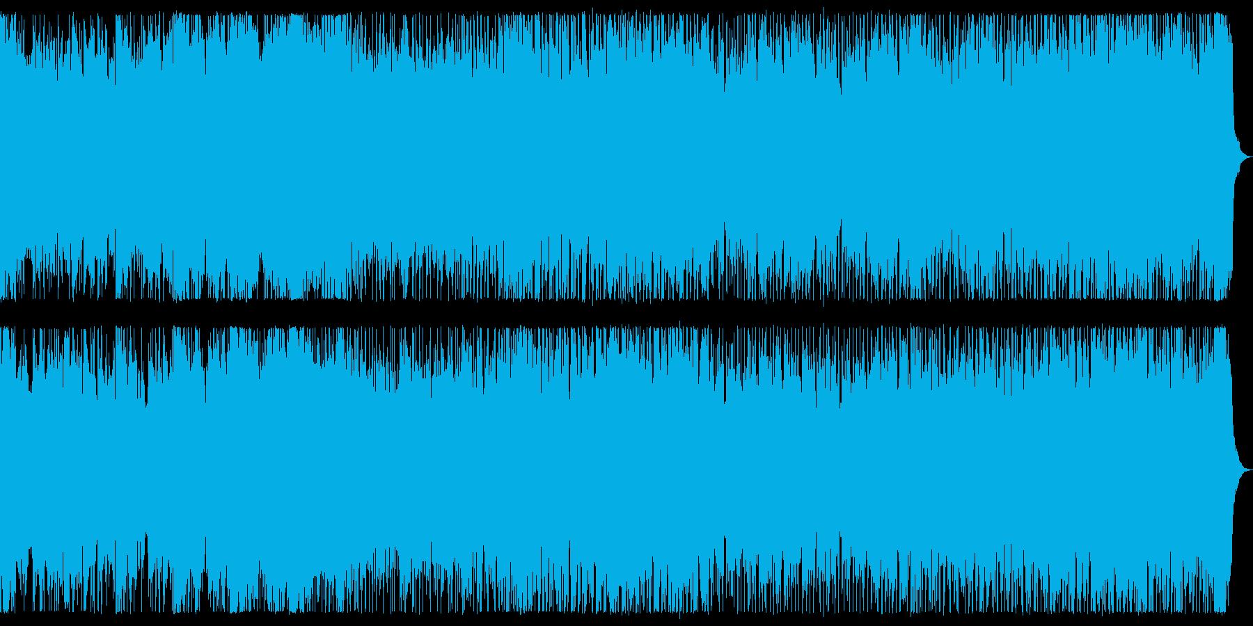 魔の領域 ホラー風なメタル戦闘曲 背景曲の再生済みの波形