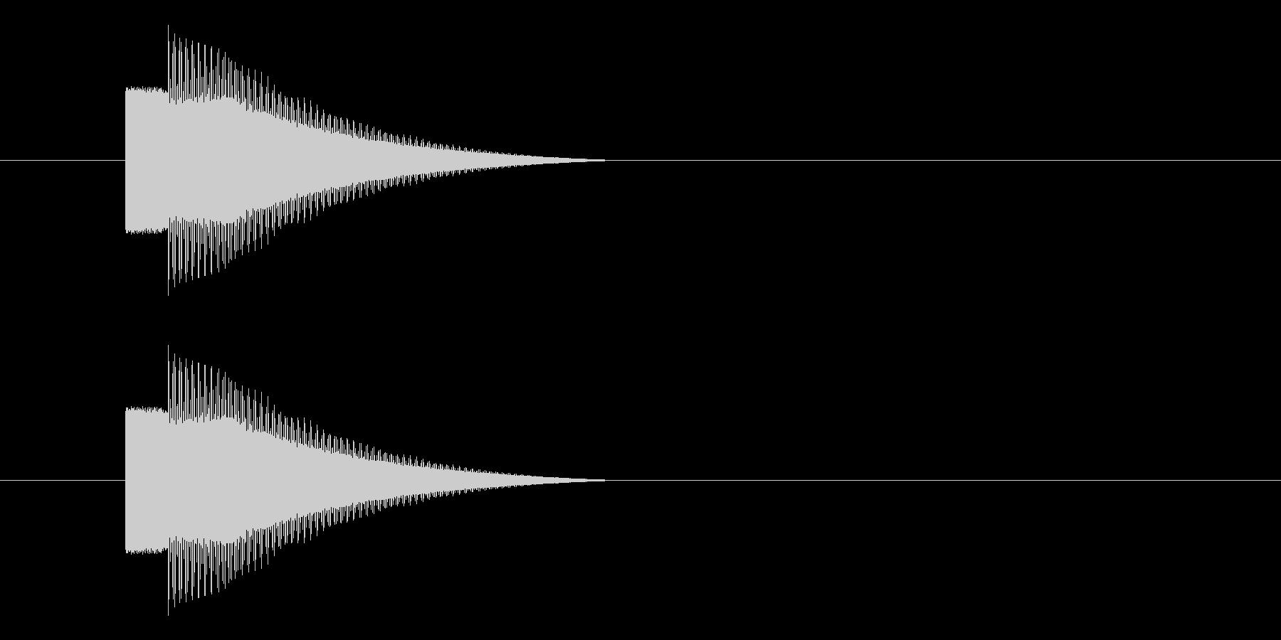 レトロゲーム風 キラーン・コインゲット音の未再生の波形
