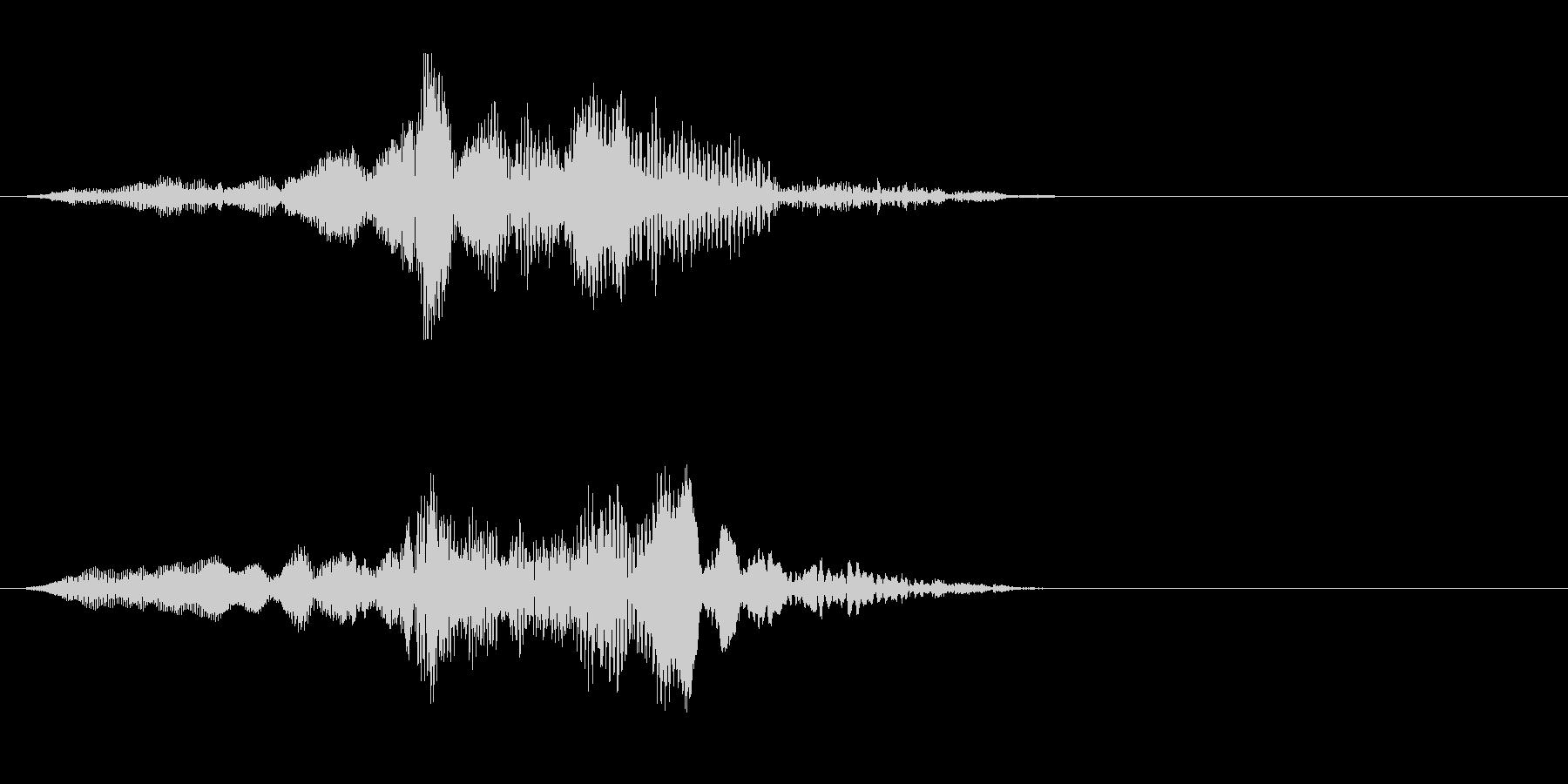 ゾンビの発声に 3(攻撃)の未再生の波形