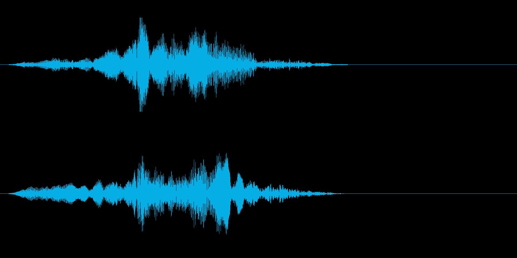 ゾンビの発声に 3(攻撃)の再生済みの波形