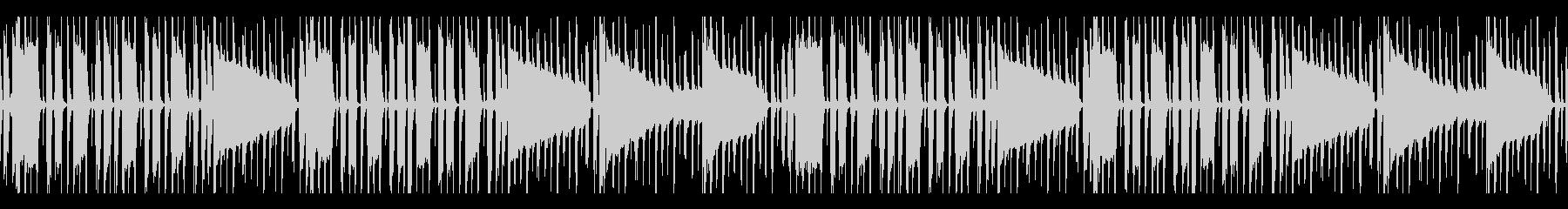ドライな質感のベース&ドラムのみBGMの未再生の波形