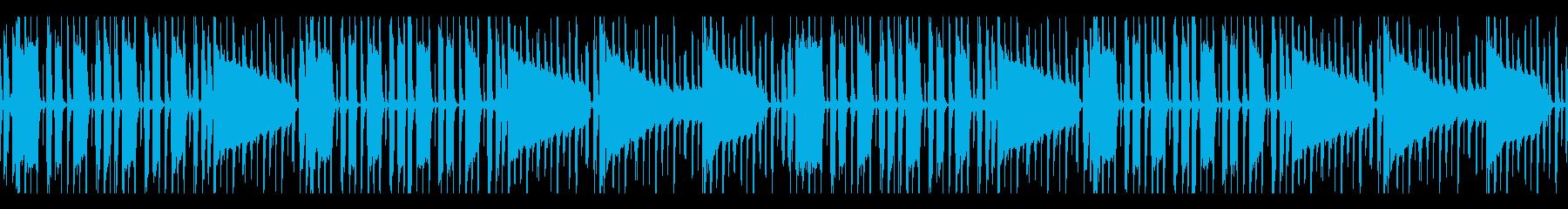 ドライな質感のベース&ドラムのみBGMの再生済みの波形