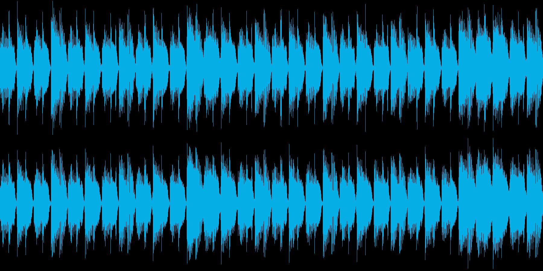 きらびやかなリードの再生済みの波形