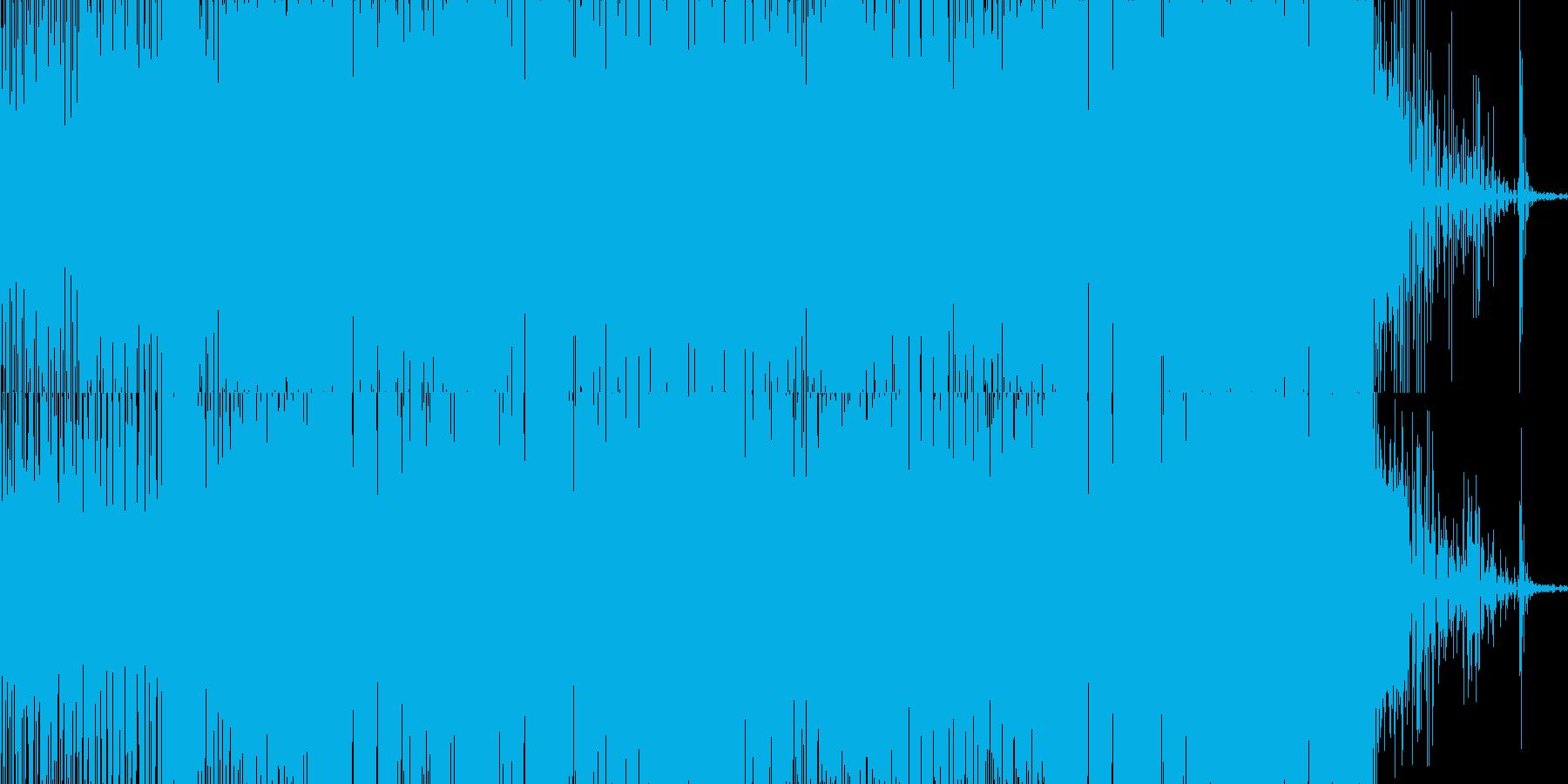 グリッチの聴いたエレクトロニカの再生済みの波形
