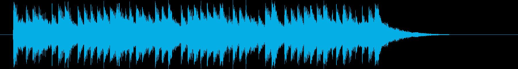デジタルで素朴な民族音楽の再生済みの波形
