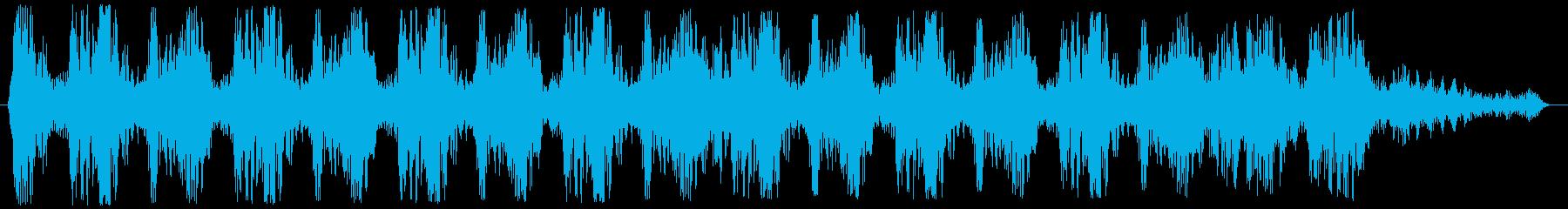 マシンガンの連射発砲音 ババババババッ!の再生済みの波形