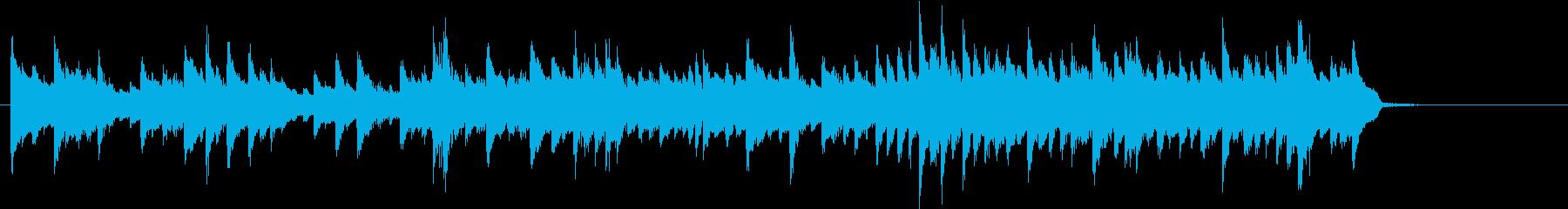 ほのぼのと癒されるピアノ曲の再生済みの波形
