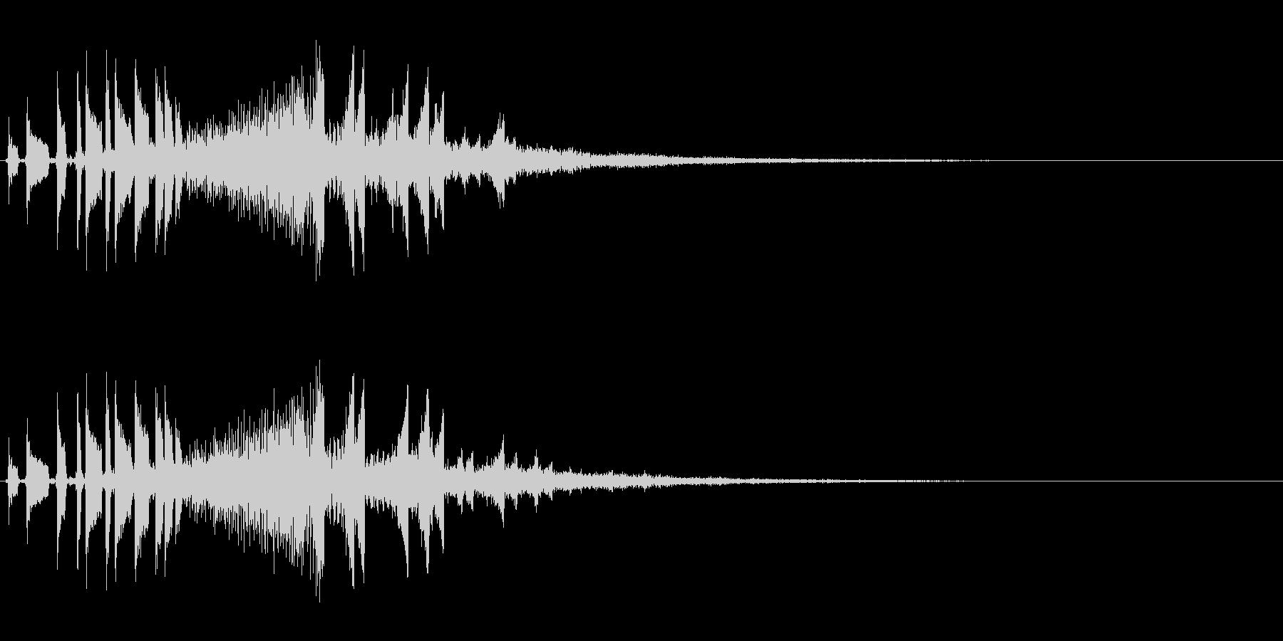 流れ星のようなキラキラ系SE-01の未再生の波形