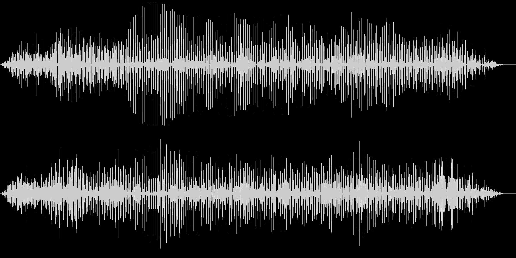 ヘリコプターのプロペラ音の未再生の波形