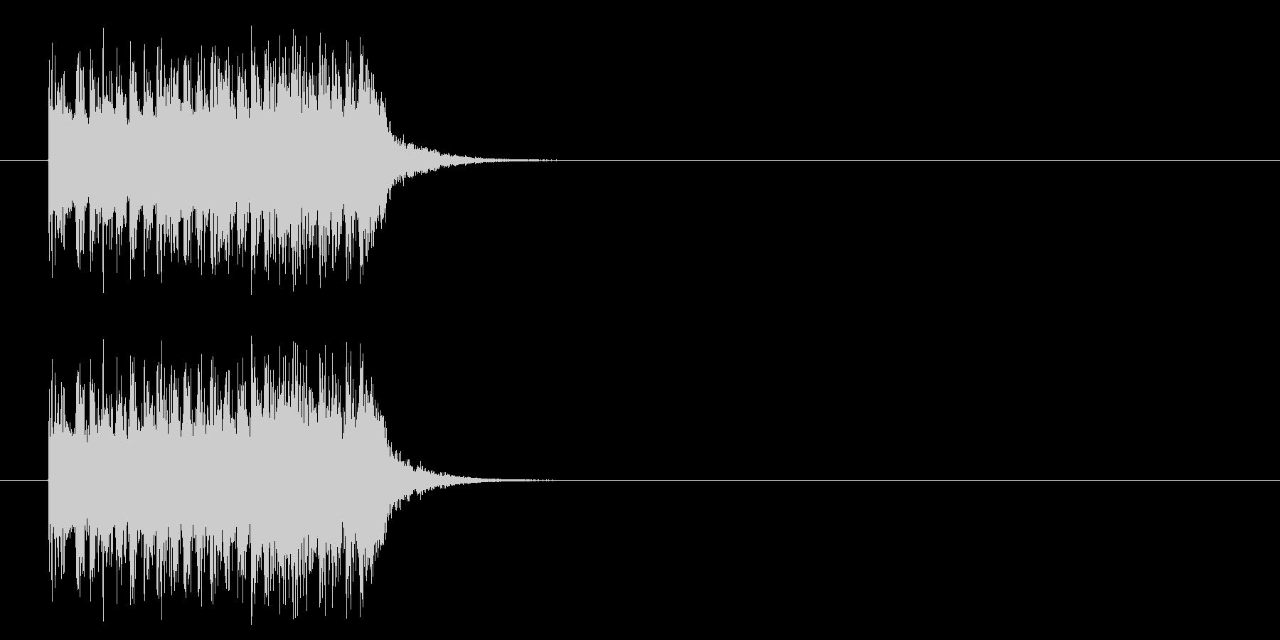 コーナーアタック風ポップのジングルの未再生の波形
