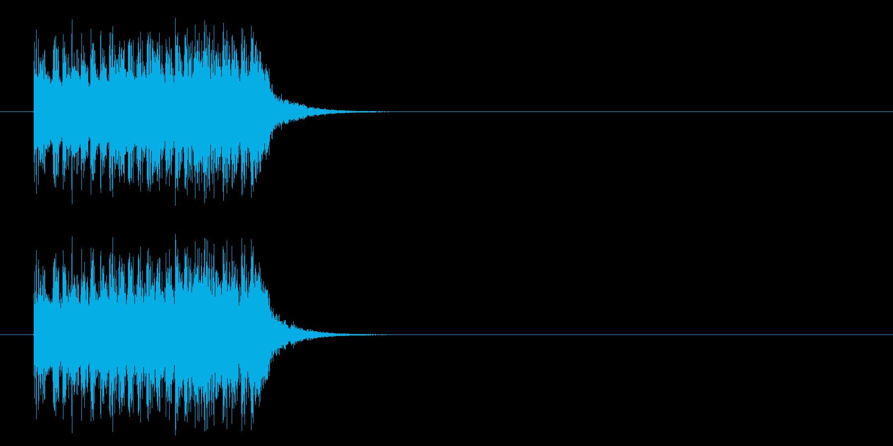 コーナーアタック風ポップのジングルの再生済みの波形