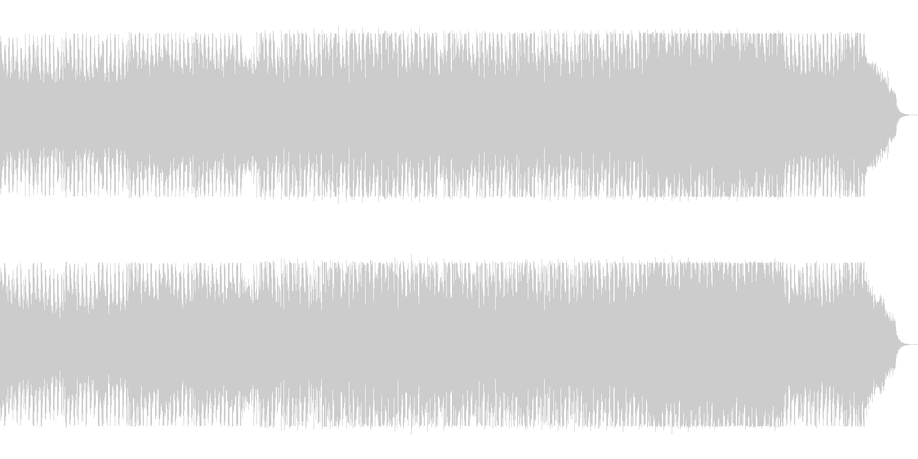 レトロ電子音のディスコサウンドの未再生の波形