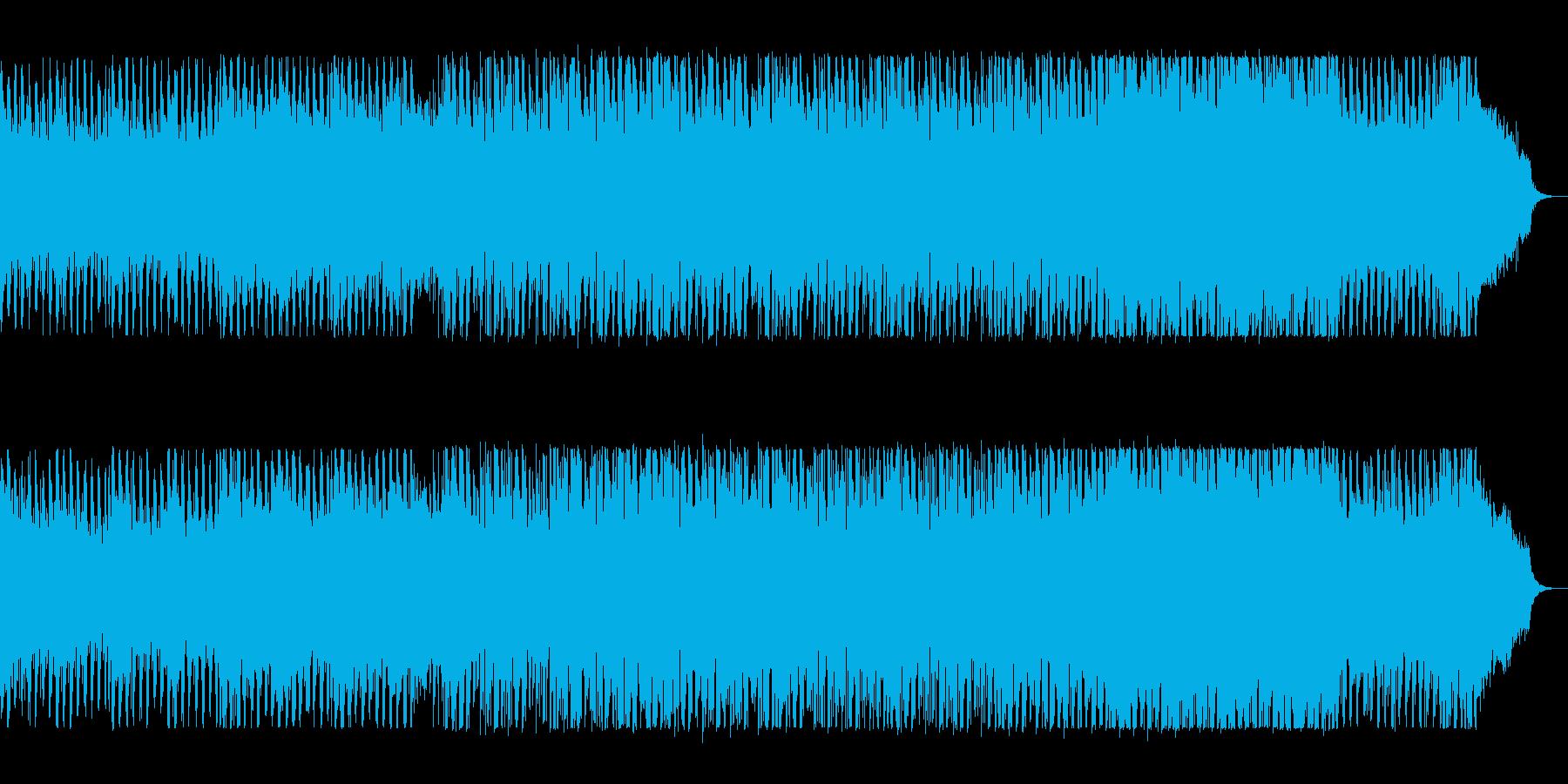レトロ電子音のディスコサウンドの再生済みの波形