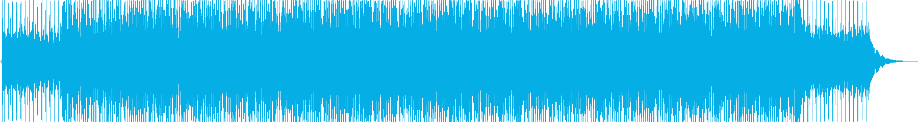 爽やかで軽快なBGMの再生済みの波形