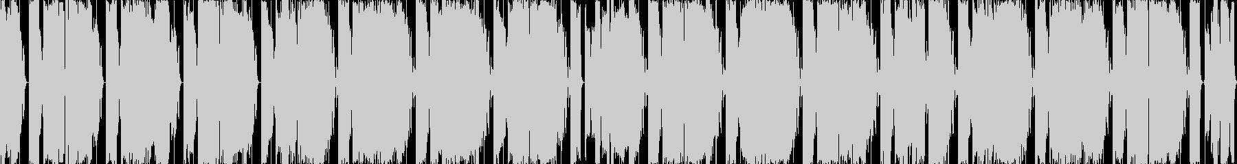 シンプルなEDMサウンドのインストの未再生の波形