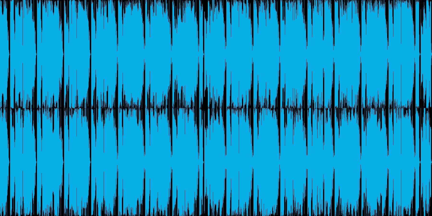 シンプルなEDMサウンドのインストの再生済みの波形