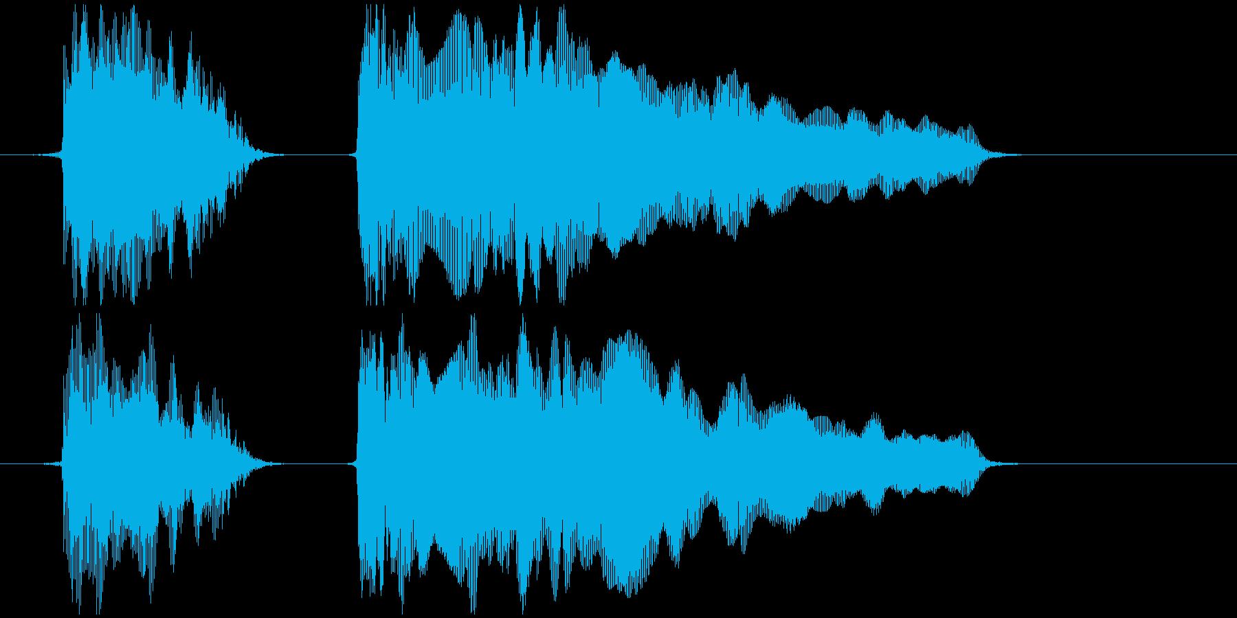 おもちゃの笛 (押す、潰す) プゥピィ~の再生済みの波形