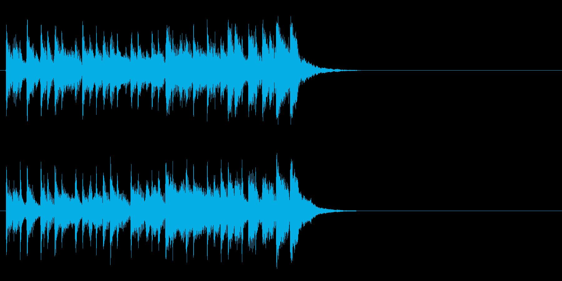 コーナー・タイトル風爽快なジングルの再生済みの波形