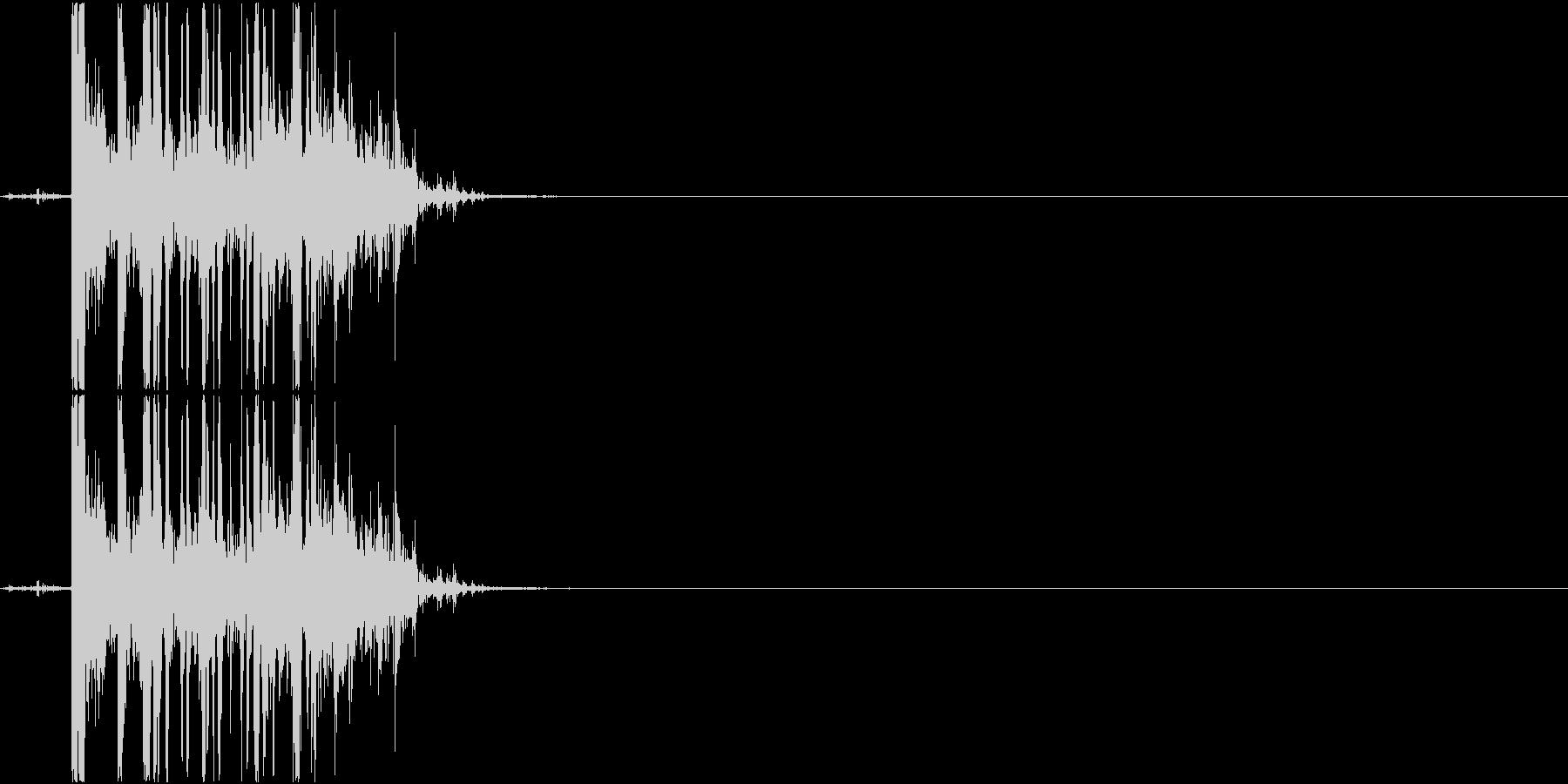 Coin チップをボウルに入れる音 小銭の未再生の波形