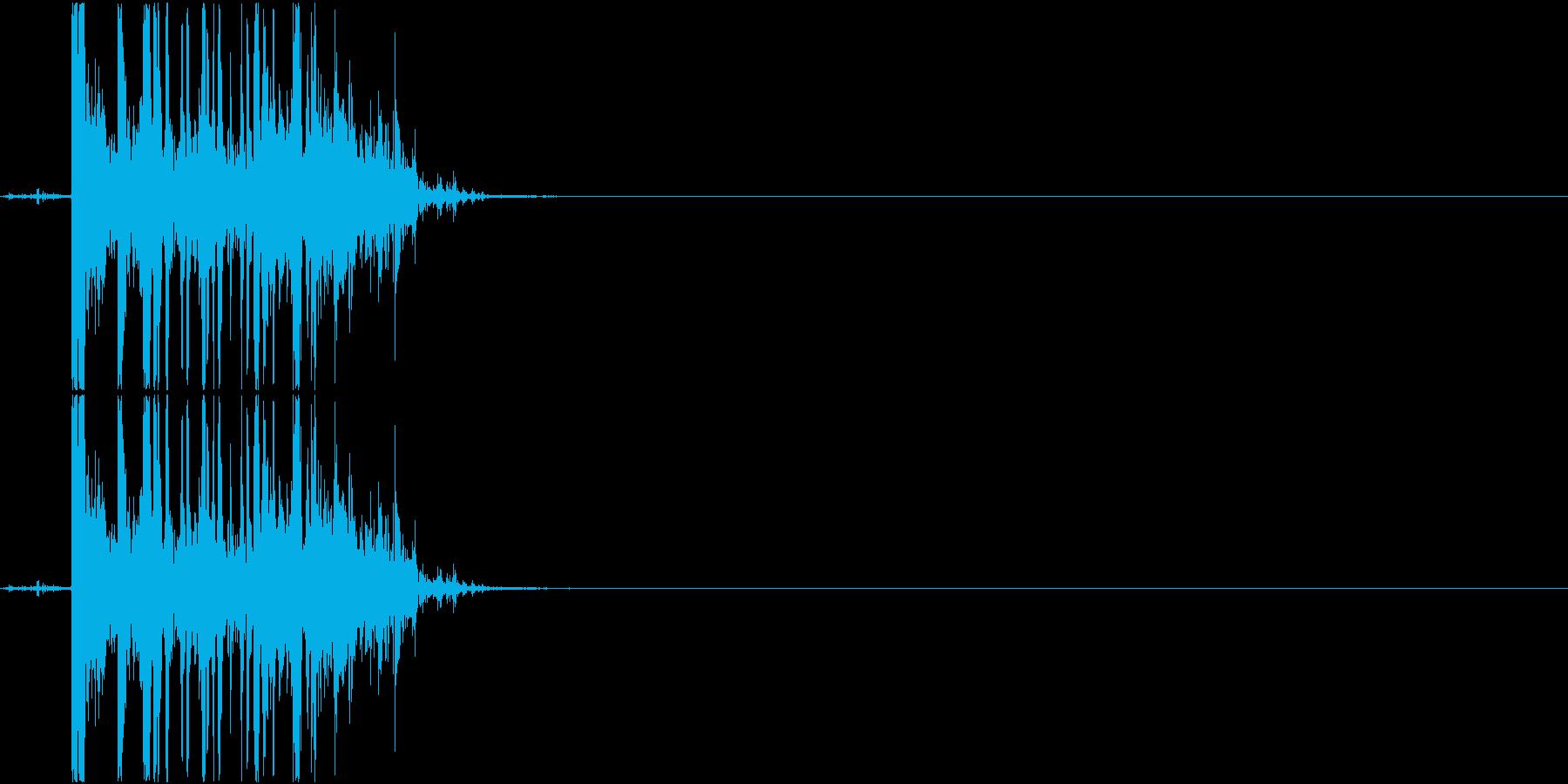 Coin チップをボウルに入れる音 小銭の再生済みの波形