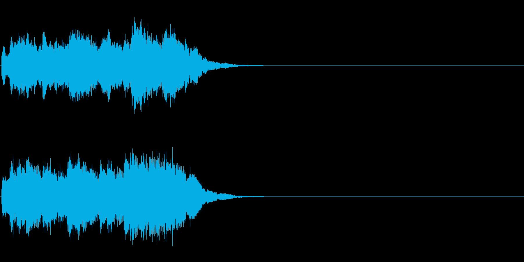 綺麗なクリスタルアルペジオのキラキラキ…の再生済みの波形