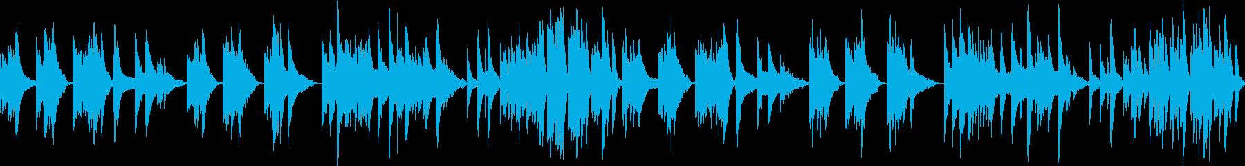 静寂を表現したピアノと弦の楽曲(ループの再生済みの波形