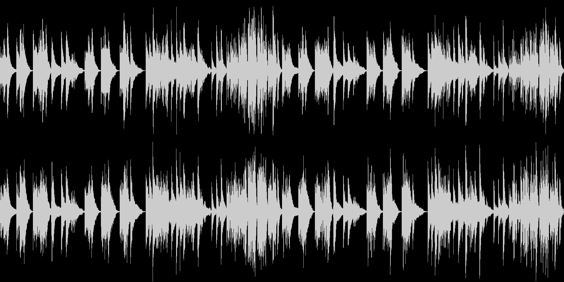 静寂を表現したピアノと弦の楽曲(ループの未再生の波形