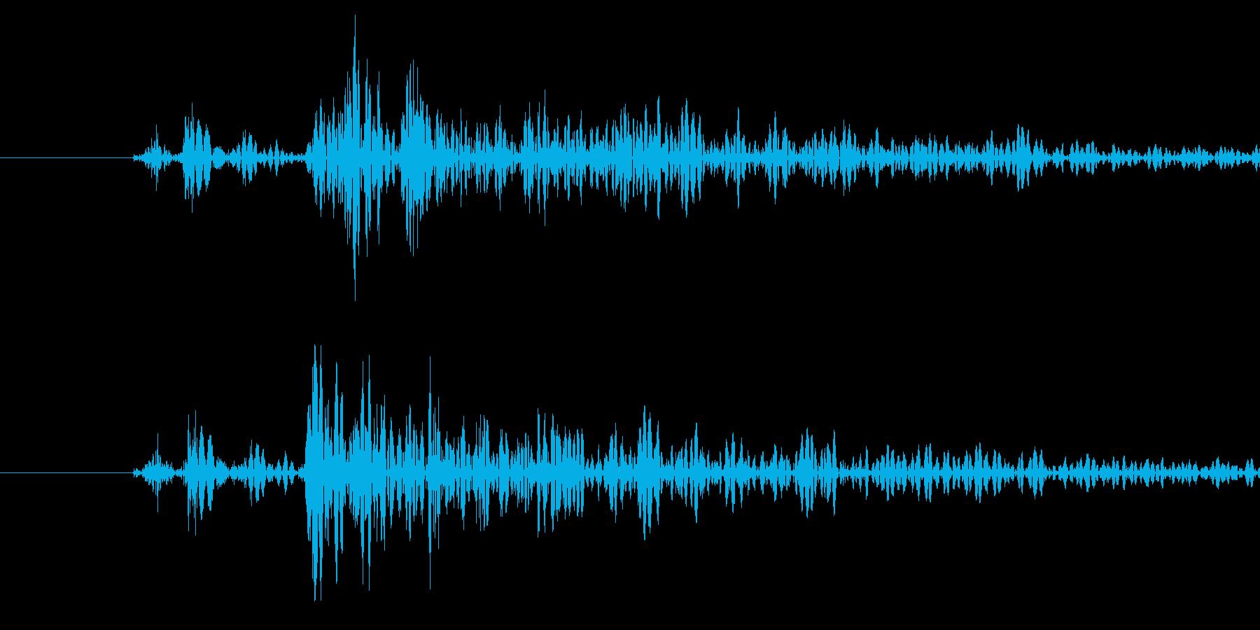 打撃音の再生済みの波形