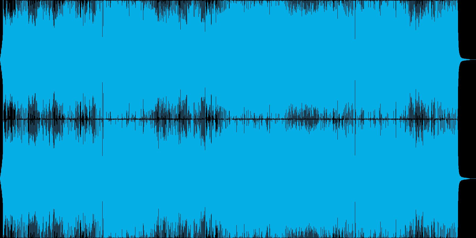 アニメ主題歌風のダンス曲_女性Voの再生済みの波形