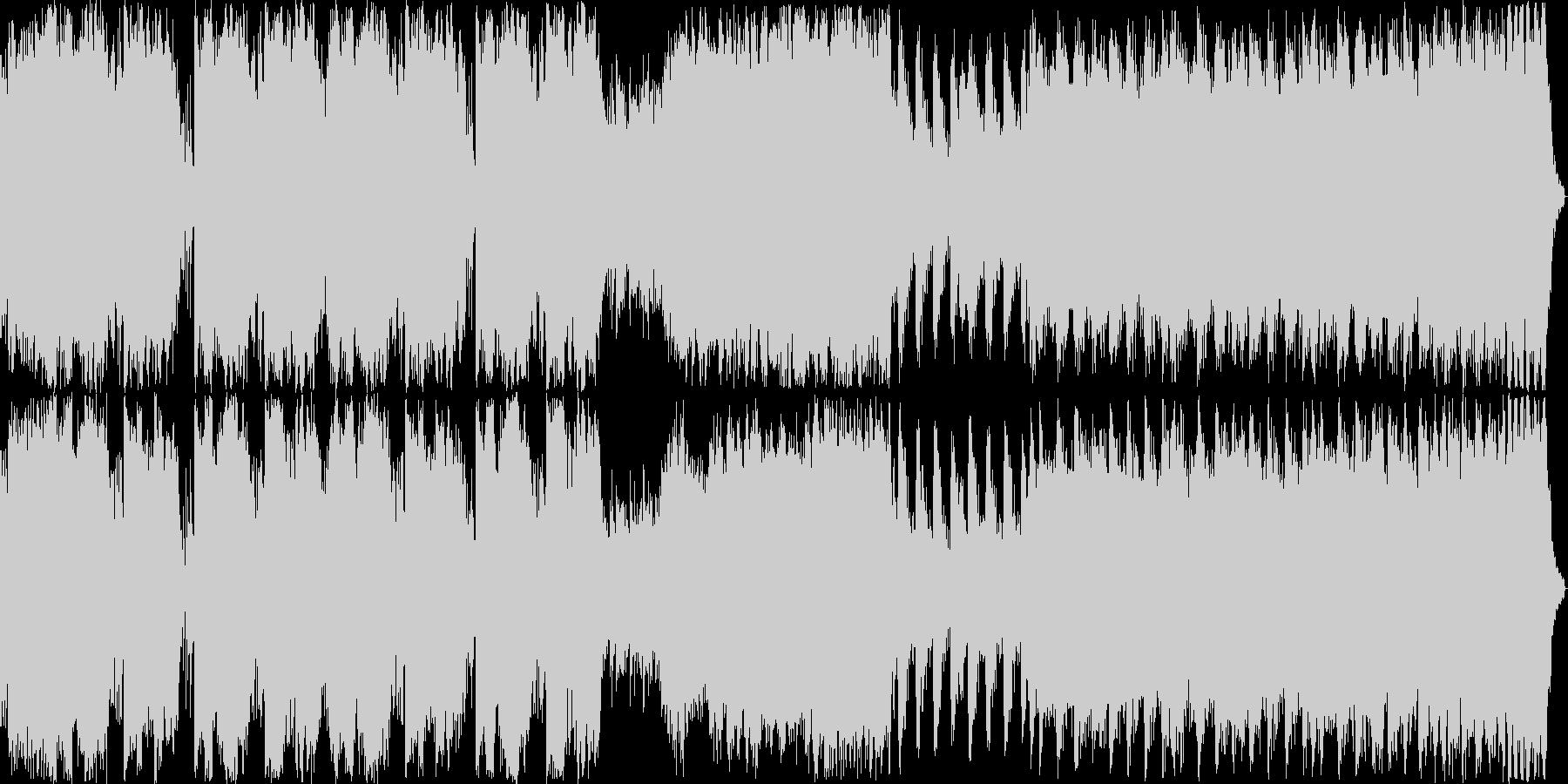 金管メインの暴力的な曲の未再生の波形