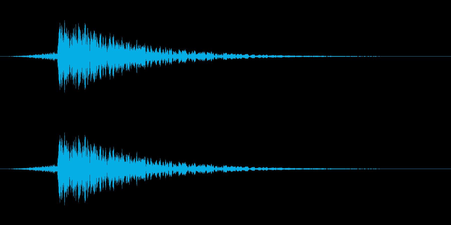 カキーン(剣戟の決定音)の再生済みの波形