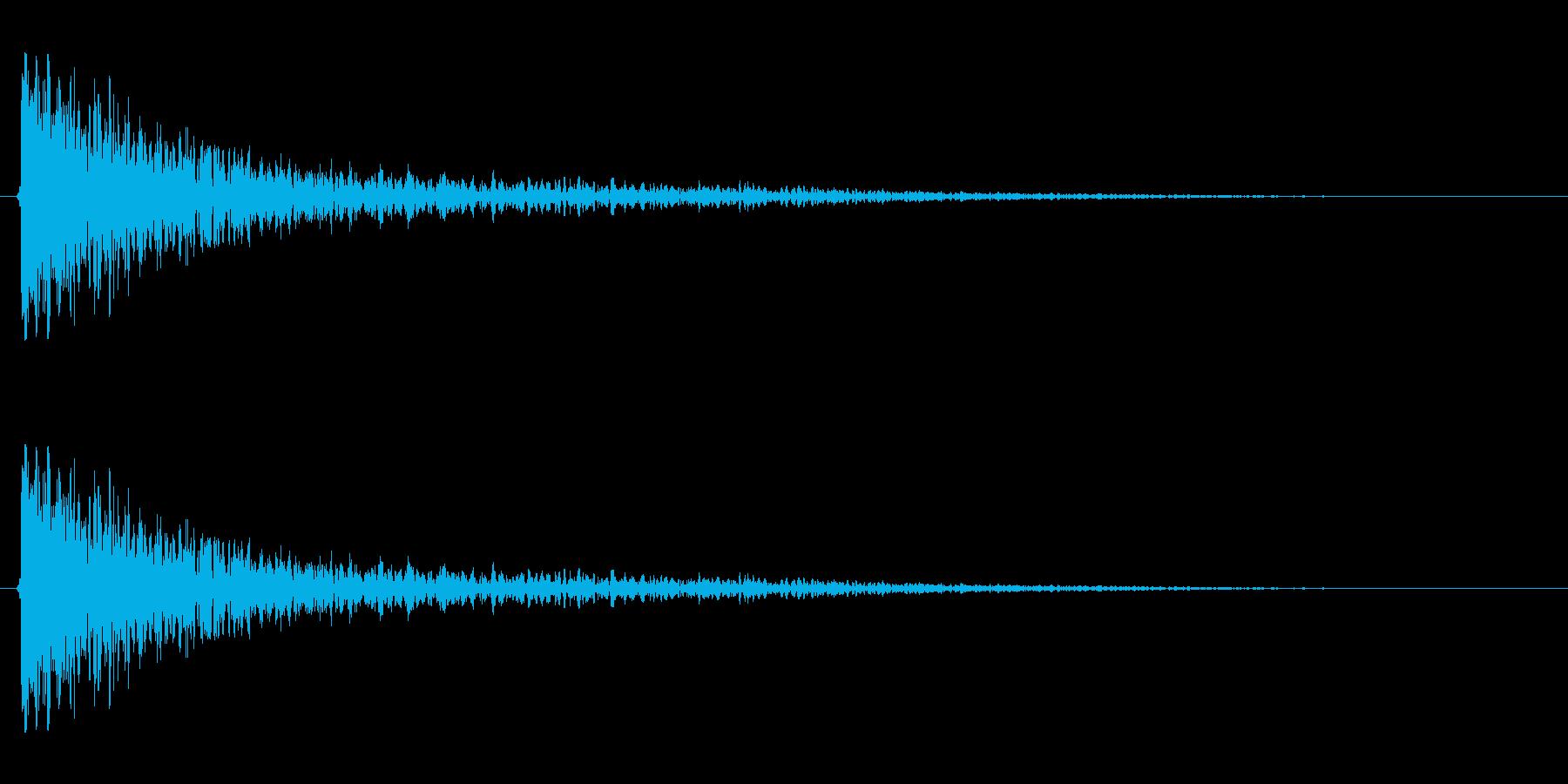 【衝撃05-1】の再生済みの波形