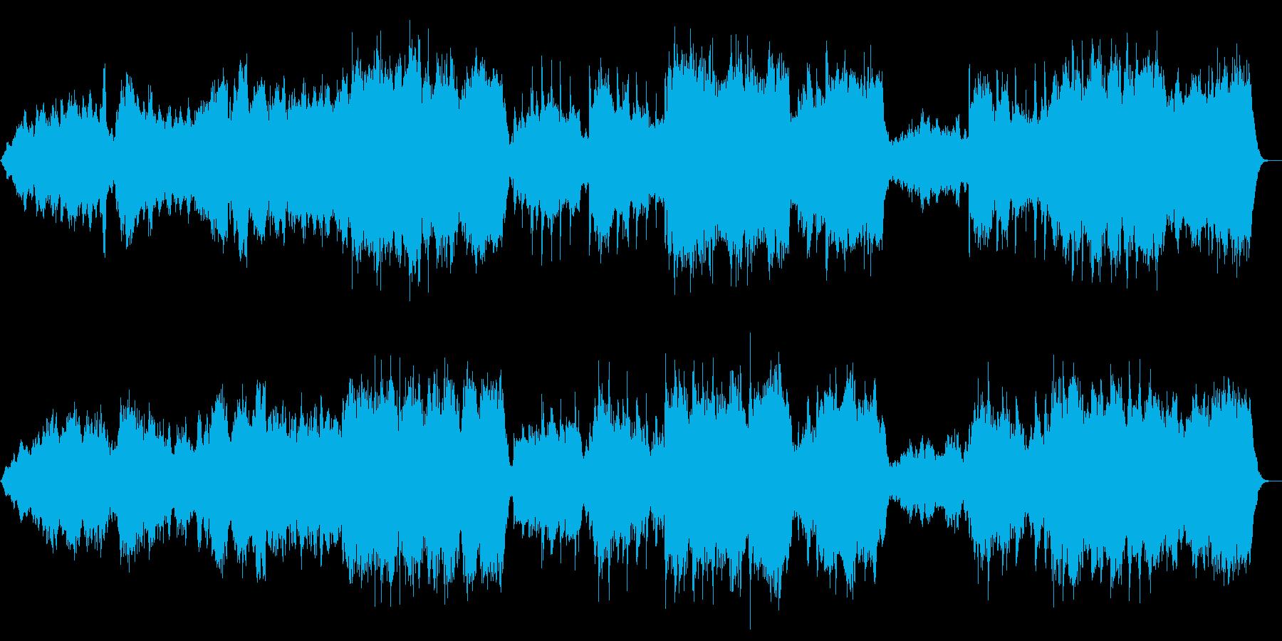 ゆっくりとした壮大なオーケストラの再生済みの波形