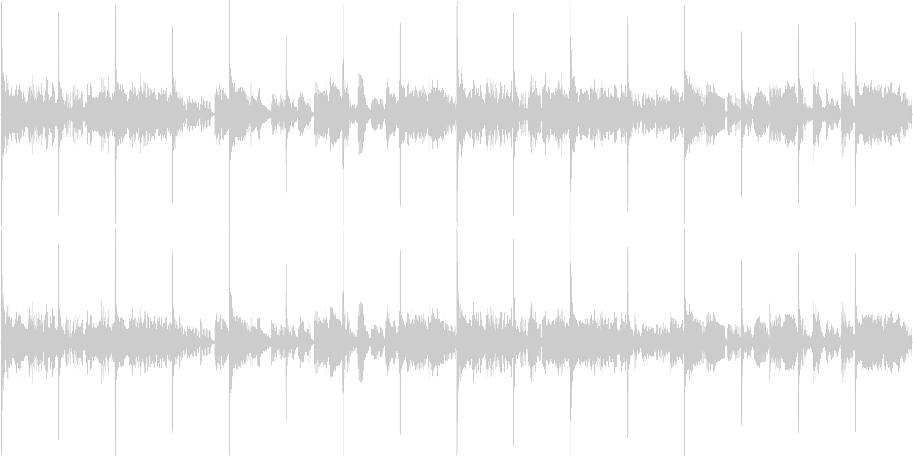 ルーツ・レゲエ風ループBGMの未再生の波形