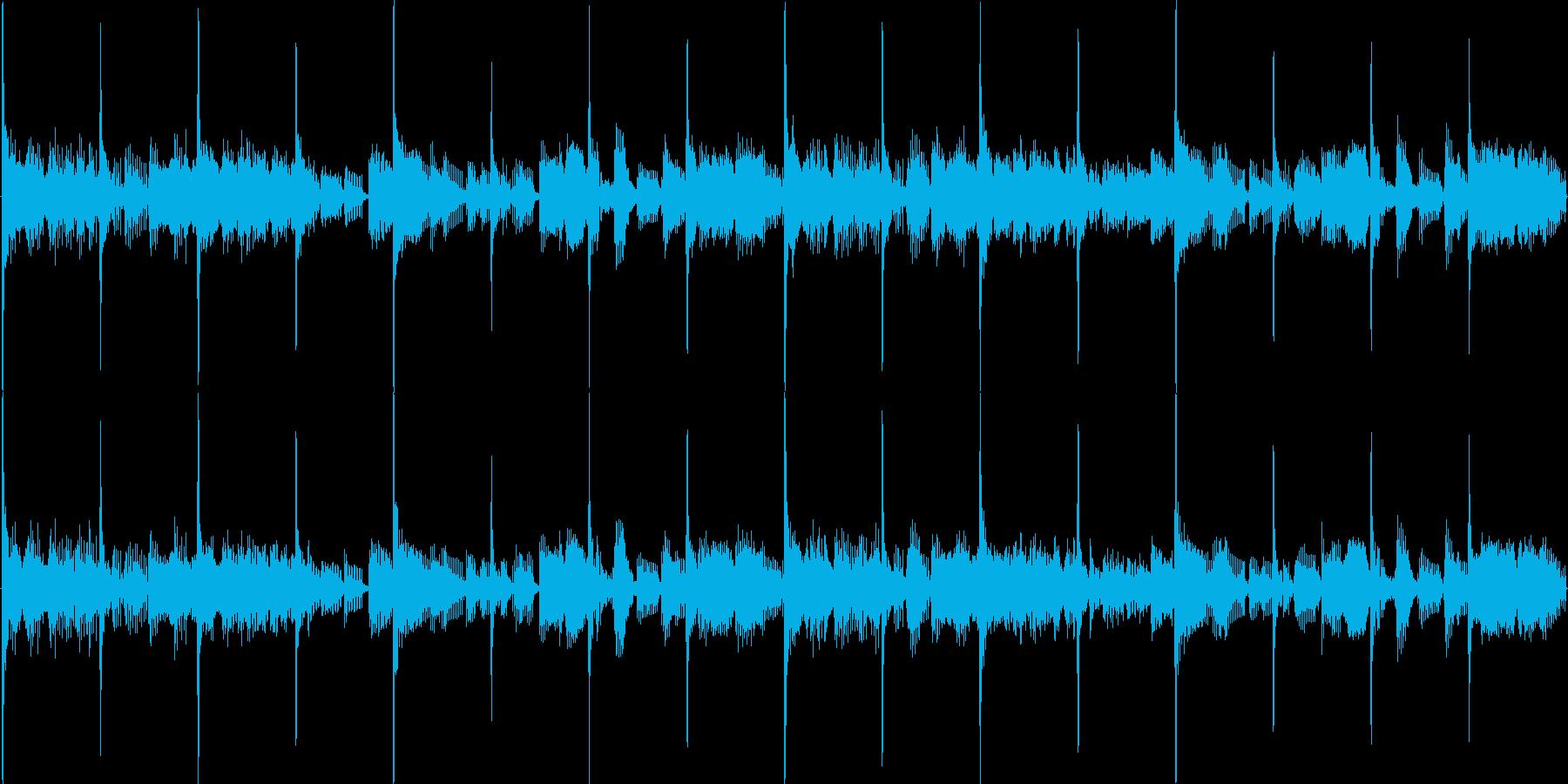 ルーツ・レゲエ風ループBGMの再生済みの波形