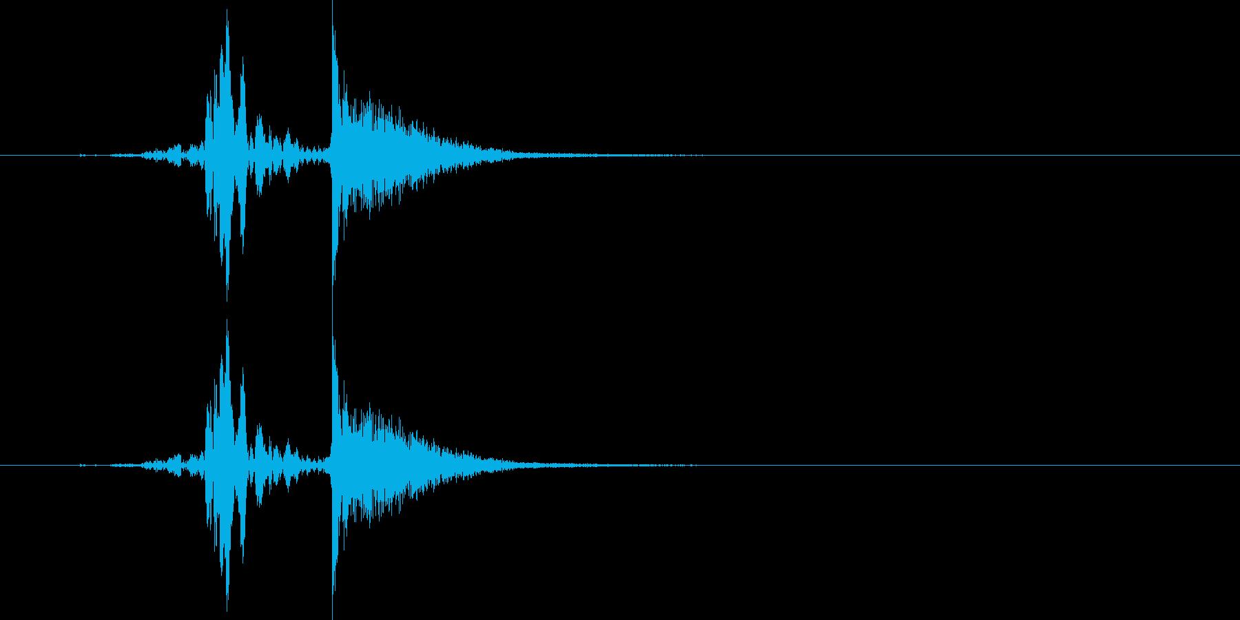 ヒュッ!バシン!(ムチで打つ音)の再生済みの波形