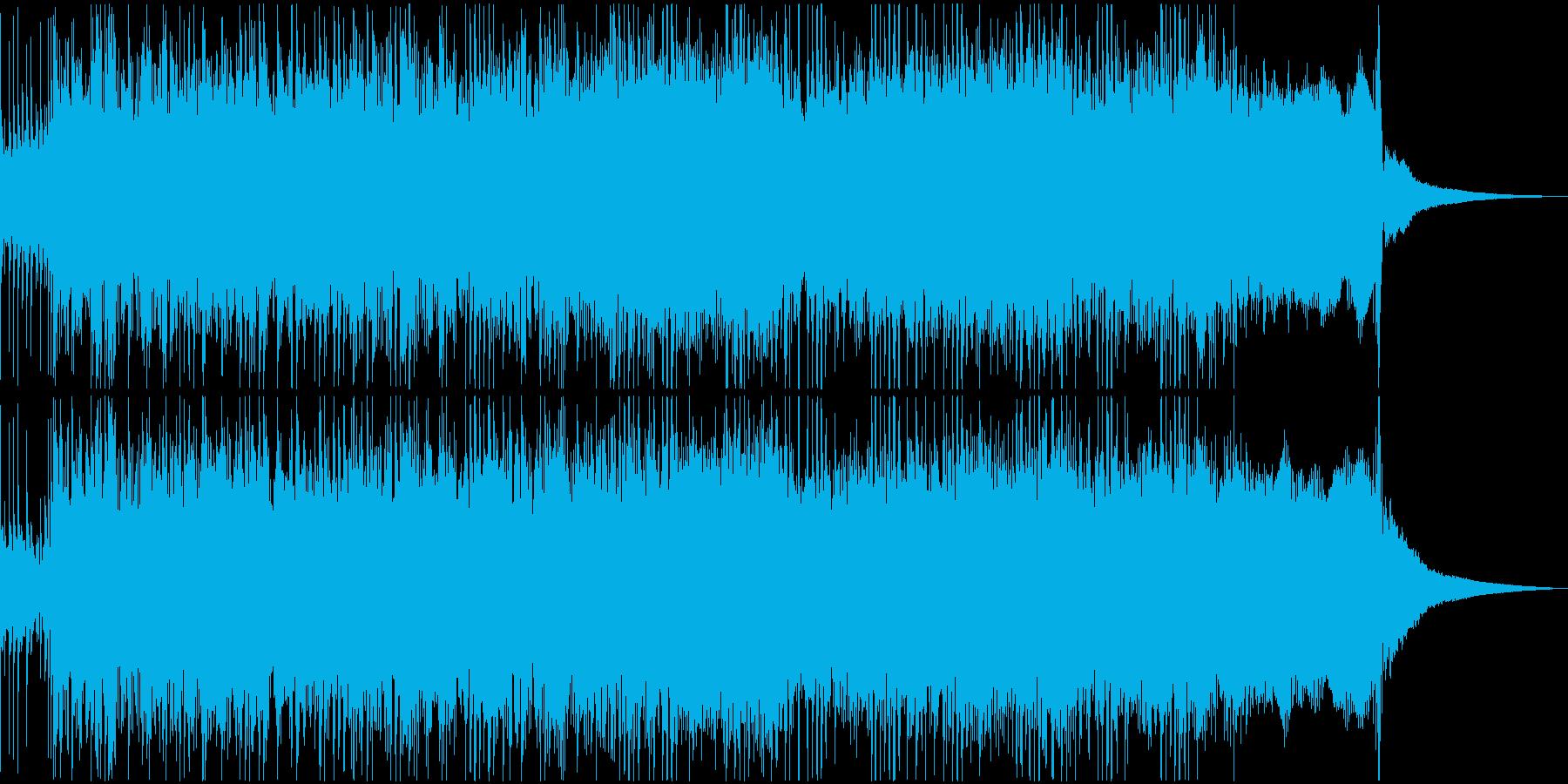 怪しいさと重量感のあるメタルリフジングルの再生済みの波形