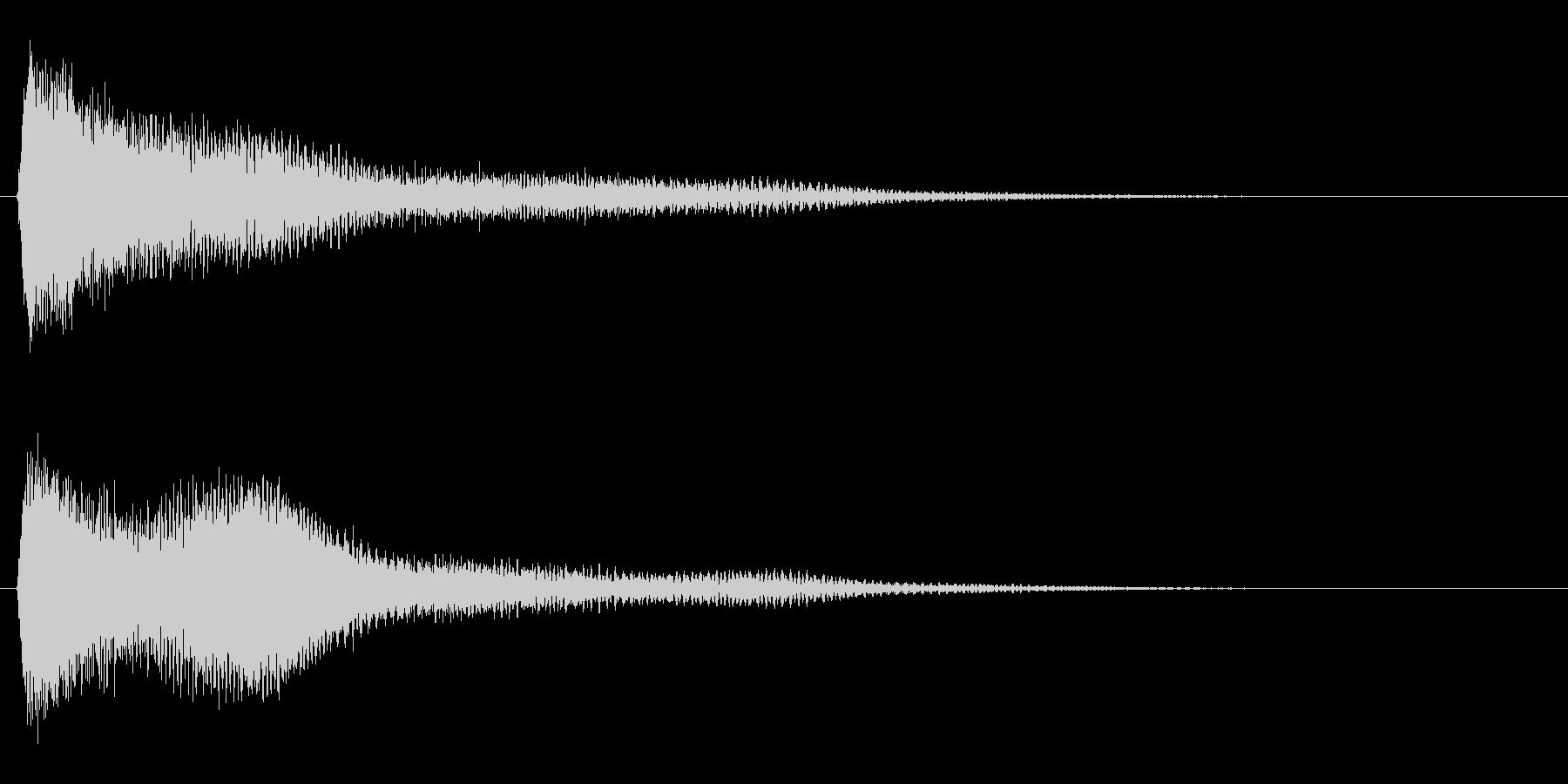 サスペンスに最適!ピアノの弦を弄ぶ音9の未再生の波形