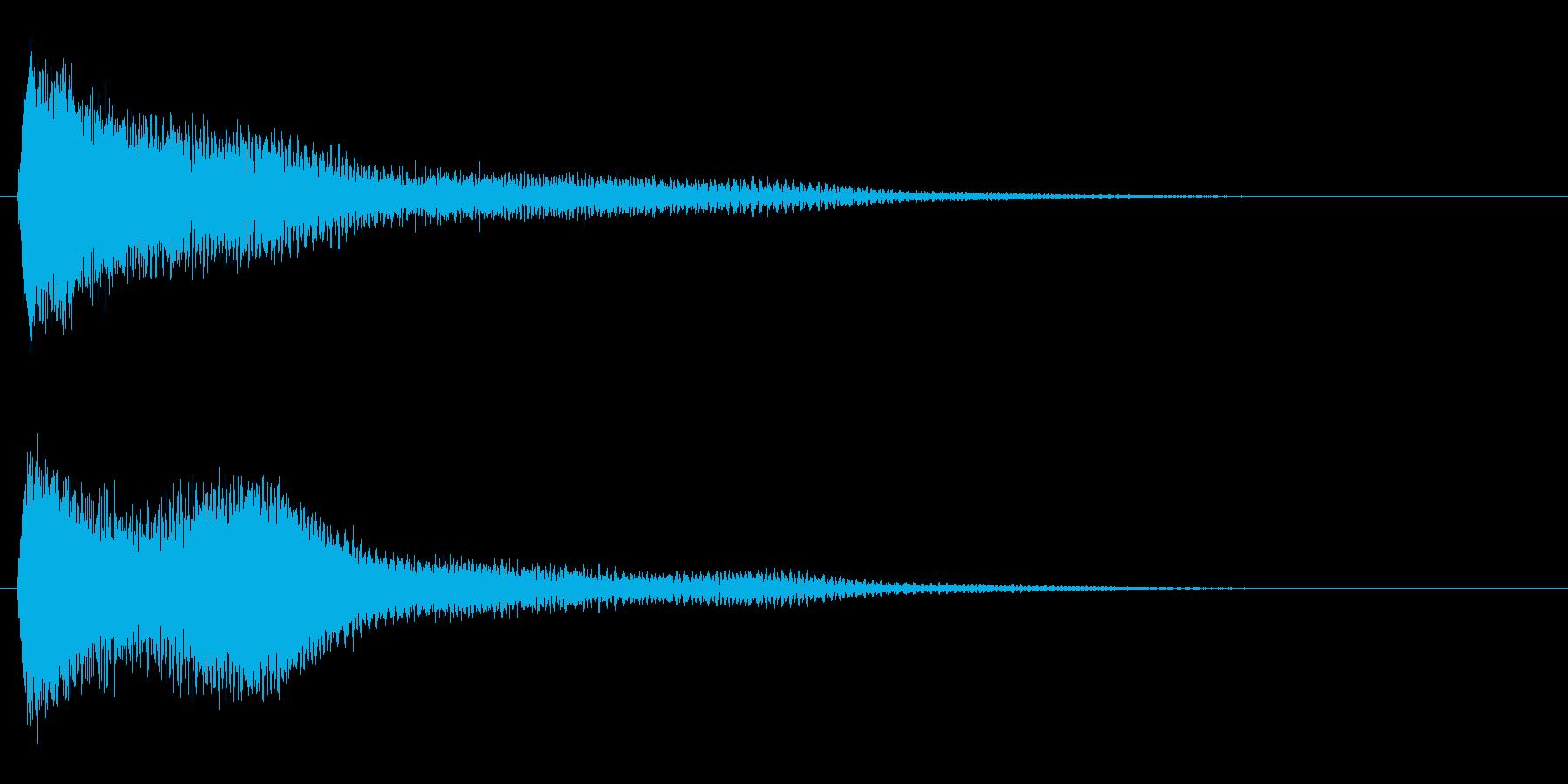サスペンスに最適!ピアノの弦を弄ぶ音9の再生済みの波形