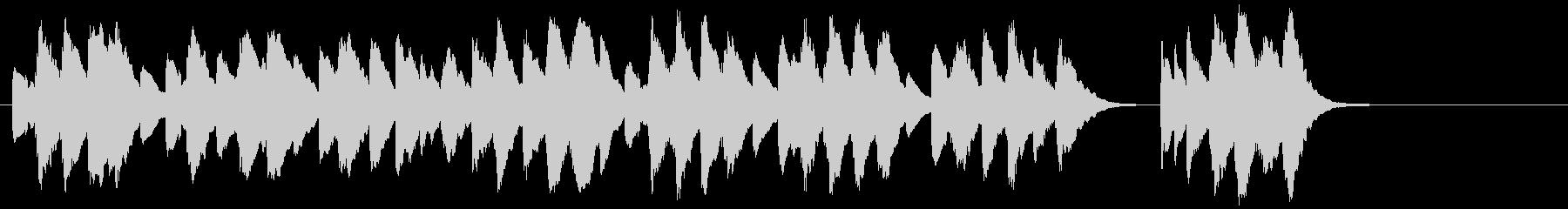 かわいいオルゴール風のハッピバースデーの未再生の波形