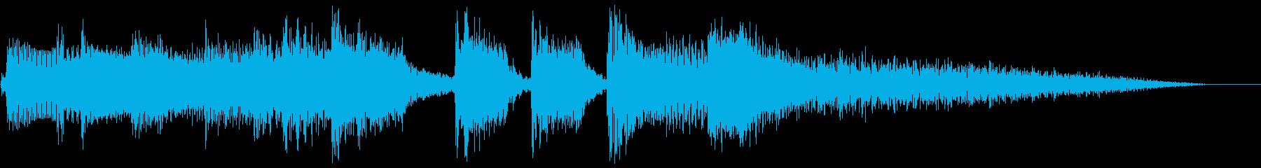 アコギ主体の穏やかなジングルの再生済みの波形
