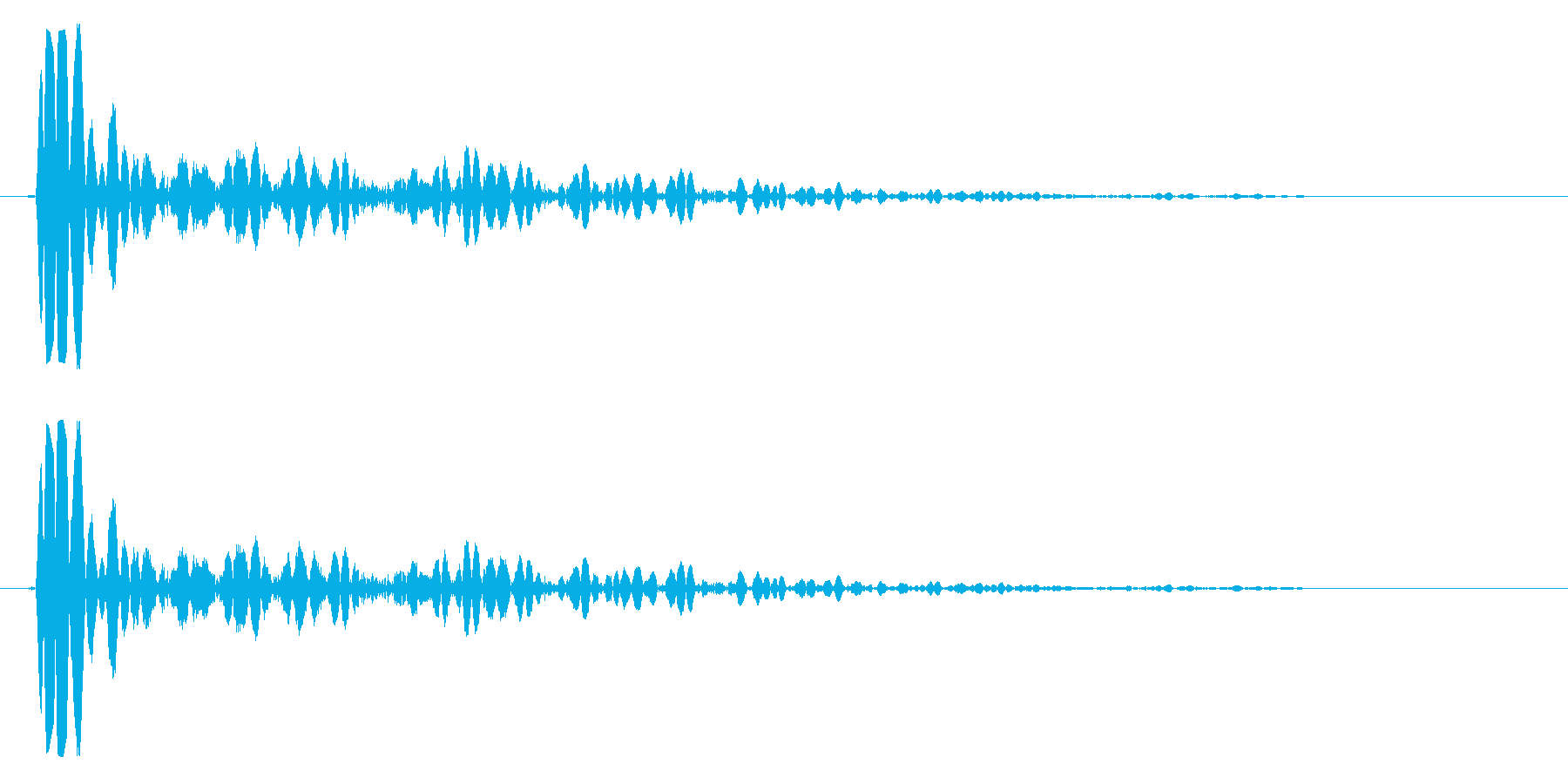 ドン(低いドラムの音)の再生済みの波形