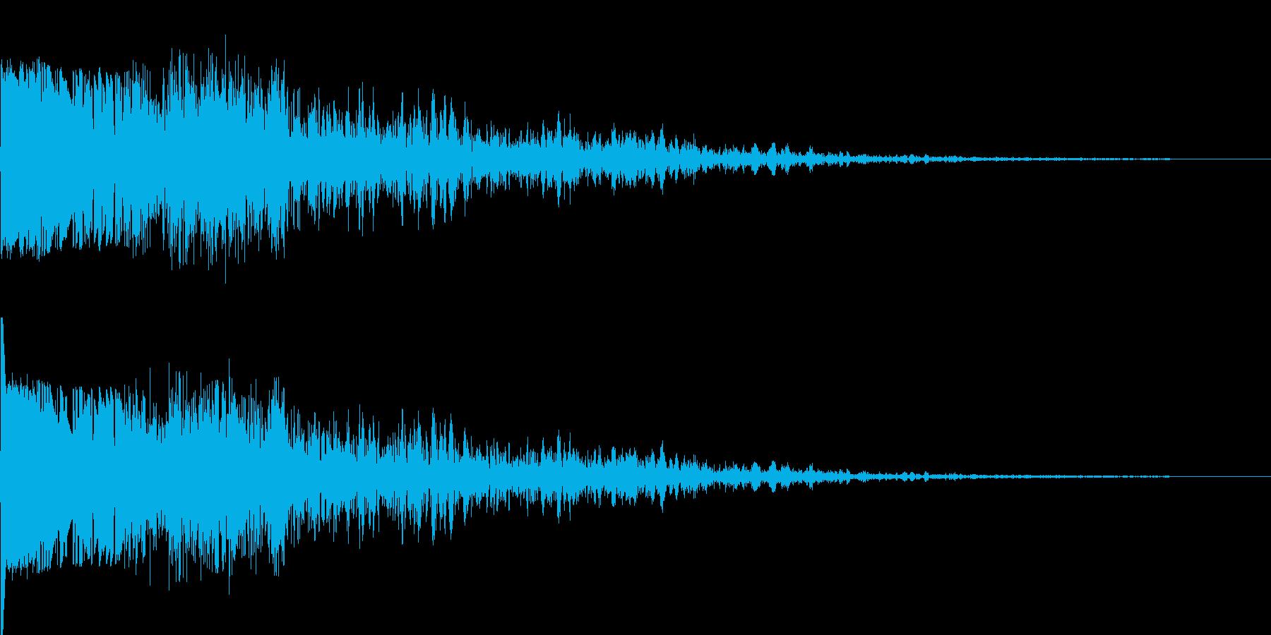 【本物】戦車の砲撃音(大口径)の再生済みの波形