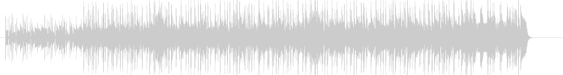 スラップベースが特徴的なワイルドファンクの未再生の波形