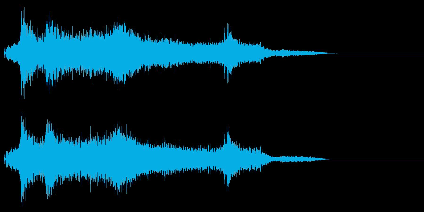 水に飛び込む効果音 02の再生済みの波形