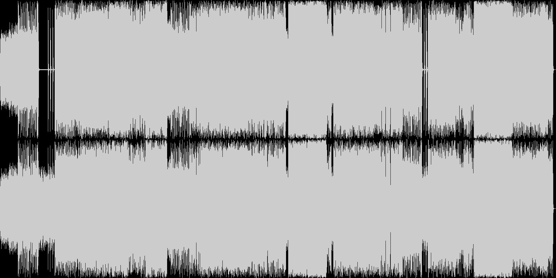 疾走感あるメロディアスなヘヴィメタルの未再生の波形