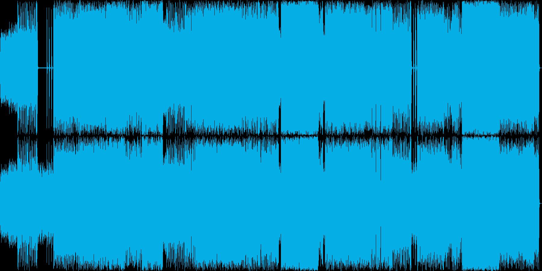 疾走感あるメロディアスなヘヴィメタルの再生済みの波形