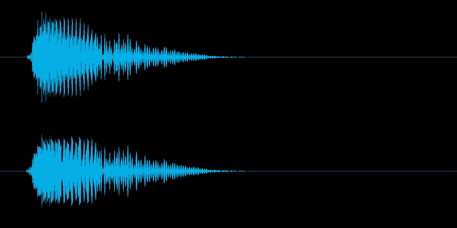ポヨン(短い・かわいい音)の再生済みの波形