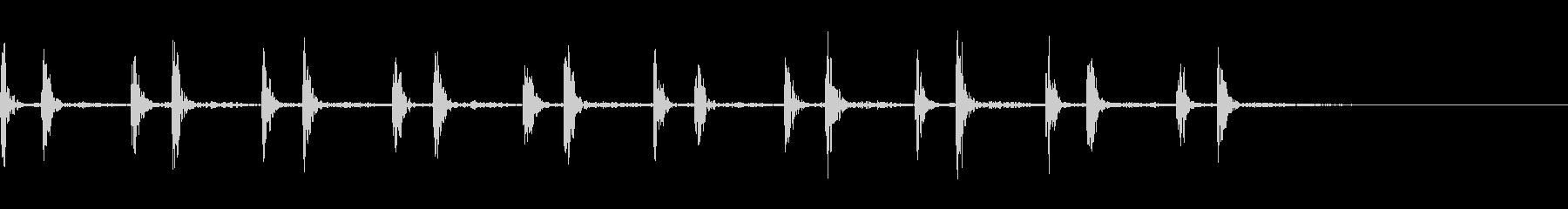 心臓の鼓動の未再生の波形