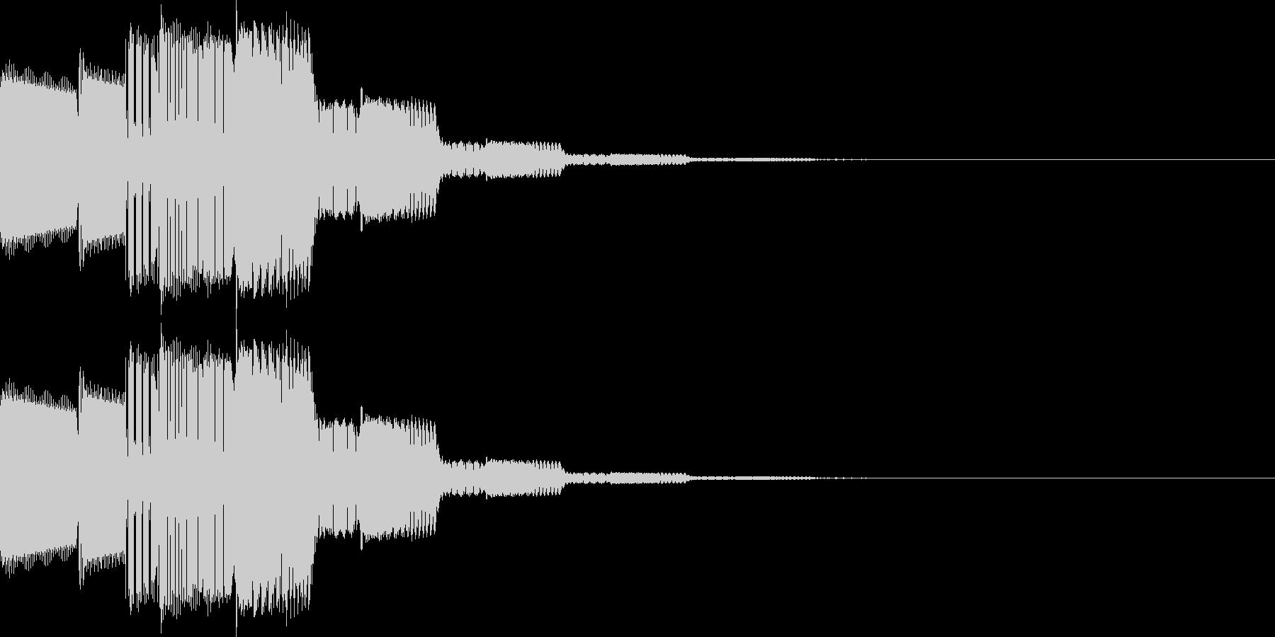 カーソル移動、決定(ピロリローン)の未再生の波形